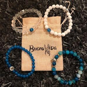 Set of 4 Buena Vida bracelets and pouch! NWOT